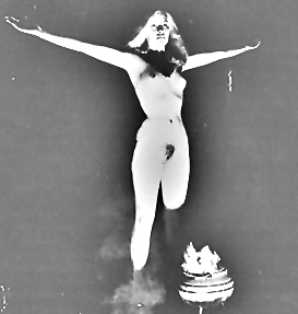 Naked Witch in Satanic Ritual